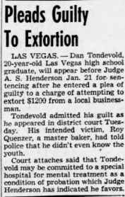 Tondevold Extortion